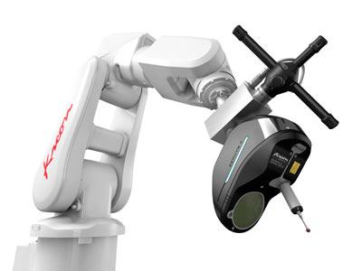 AirTrack Robot with Zephyr II Blue 3D scanner
