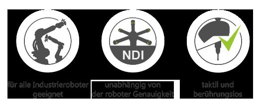 AirTrack : für alle Industrieroboter geeignet, unabhängig von der Genauigkeit, taktil und berührungslos