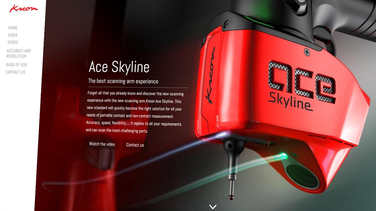 Ace Skyline scanning arm dedicated website