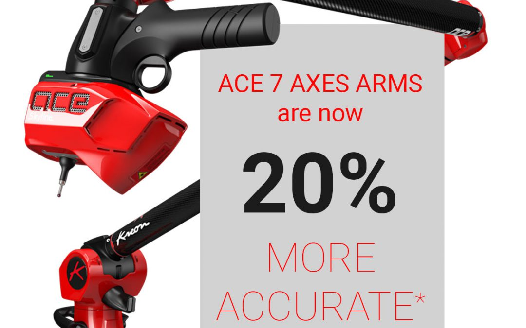 Ace 7 axes measuring arms are now 20% more accurate