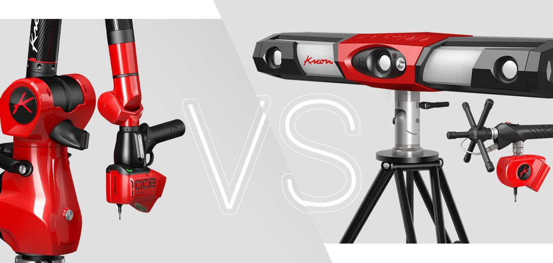 Measuring arm vs optical tracker