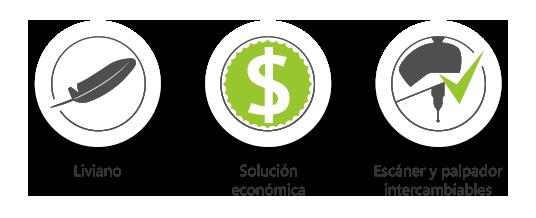 Brazos de medición BACES : Liviano / Solución económica / Escáner y palpador intercambiables.