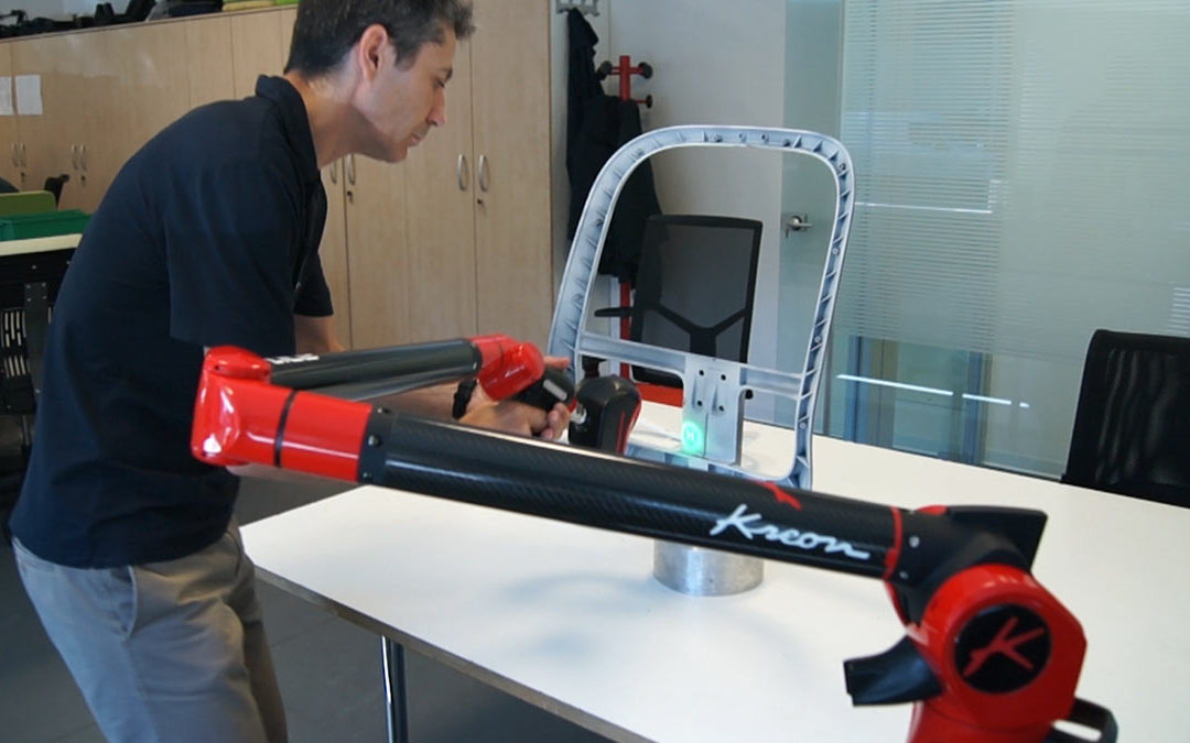 IMARC, designer of office chair components and mechanisms, installs a Kreon measuring arm in the heart of its engineering and design department